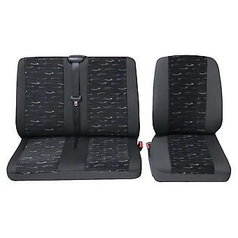Commercial single & double seat covers Volkswagen Crafter Van Seat Covers - Blue