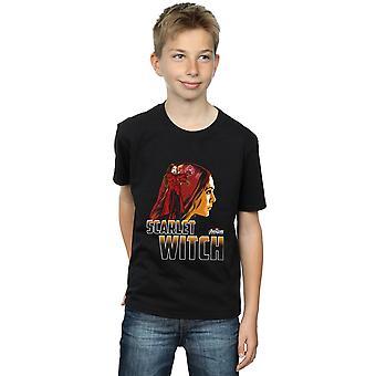The Avengers jungen Infinity Krieg Scarlet-Hexe Charakter T-Shirt