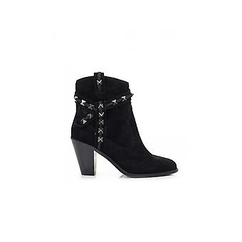 Ash Footwear Studded Wrap Heeled Suede Boots
