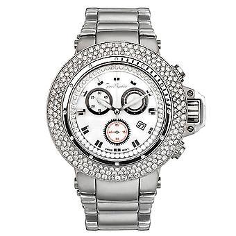 Joe Rodeo diamond men's watch - RAZOR silver 7.2 ctw