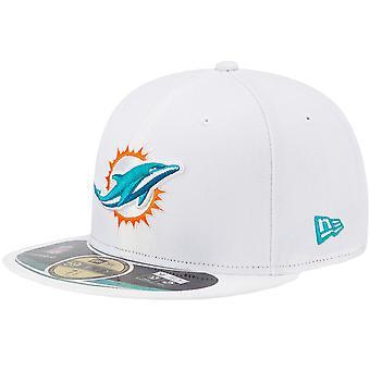 Nieuwe Era Cap - NFL op VELD Miami Dolphins wit