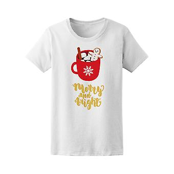 Merry And Bright Hot Drink Cocoa Tee Women's -Image by Shutterstock