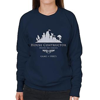 Fortnite Haus Konstruktor Spiel der Throne Mix Damen Sweatshirt