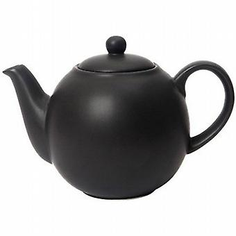 London Pottery Globe 10 Cup Teapot  Matt Black