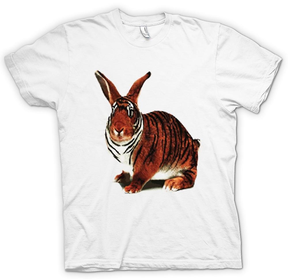 Kvinner t-skjorte-Tiger Rabbit Pop Art Design