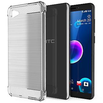 HTC Desire 12 Carbon Anti val TPU Case - duidelijk