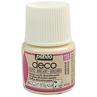 Pebeo Deco Water-Based Glossy Colours 45ml (139 Meringue)