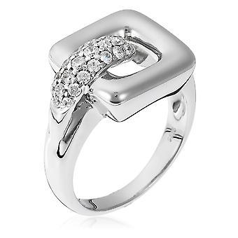 Orphelia argento 925 anello Carree zirconio ZR-3584