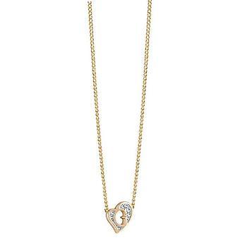 Antar att damer kedja halsband rostfritt stål guld hjärta UBN71537