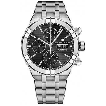 Maurice Lacroix Aikon Automatic Chronograph Stainless Steel Black Dial AI6038-SS002-330-1 Watch