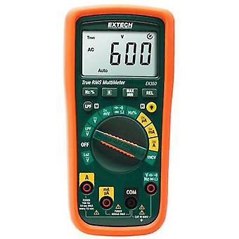 Extech EX350 palmare multimetro digitale calibrato per: secondo le norme (nessun certificato) CAT III 600 V Display (conteggi): 4000