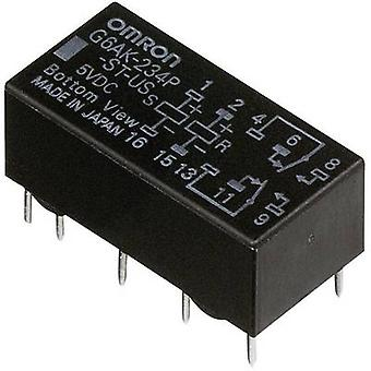 Omron G6AK-274P-ST-US 5 VDC PCB relay 5 Vdc 2 A 2 change-overs 1 pc(s)