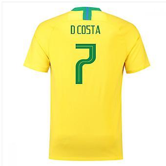 2018-2019 Brazil Home Nike Football Shirt (D Costa 7)