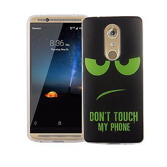 Handy Hülle für ZTE Axon 7 Mini Cover Case Schutz Tasche Motiv Slim Silikon TPU Dont Touch my Phone Grün