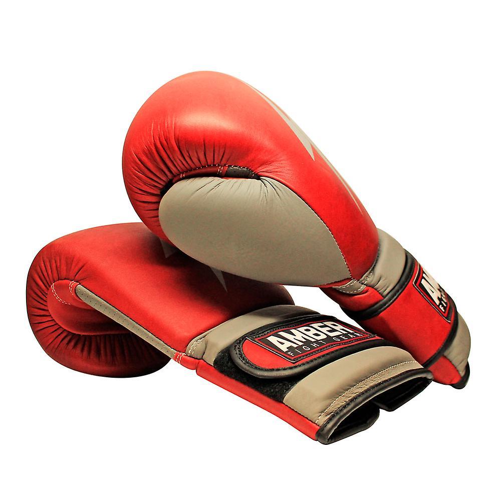 Gladiator äkta läder Vintage boxningshandskar boxning kickboxning Muay Thai  träning handskar Gel Sparring slagsäck vantar 56e2860a8d35a