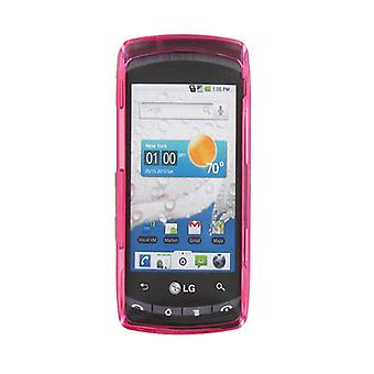 Verizon LG Ally VS740 Snap-On Housse Etui - rose translucide (emballage en vrac)