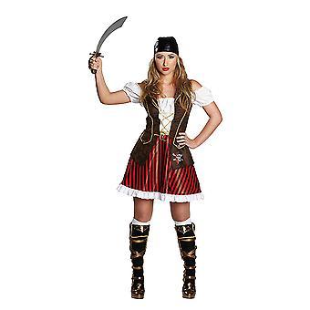 Piratenlady Sexy Piratin Seeräuberin Piratenkleid Kostüm für Damen