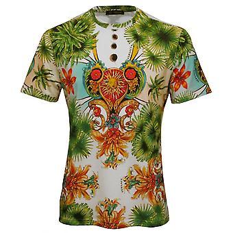 Versace Miami impresión Luxe-shirt, multicolor