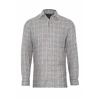 Champion Mens Country York Long Sleeve Shirt-Olive-Tan-Medium-Max 43