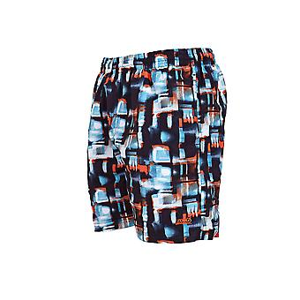 Zoggs Men's Misty Tide Shorts in Blue / White Featuring an Elasticated Waist - 16