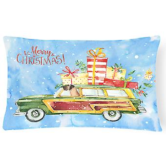Merry Christmas Great Dane Canvas Fabric Decorative Pillow
