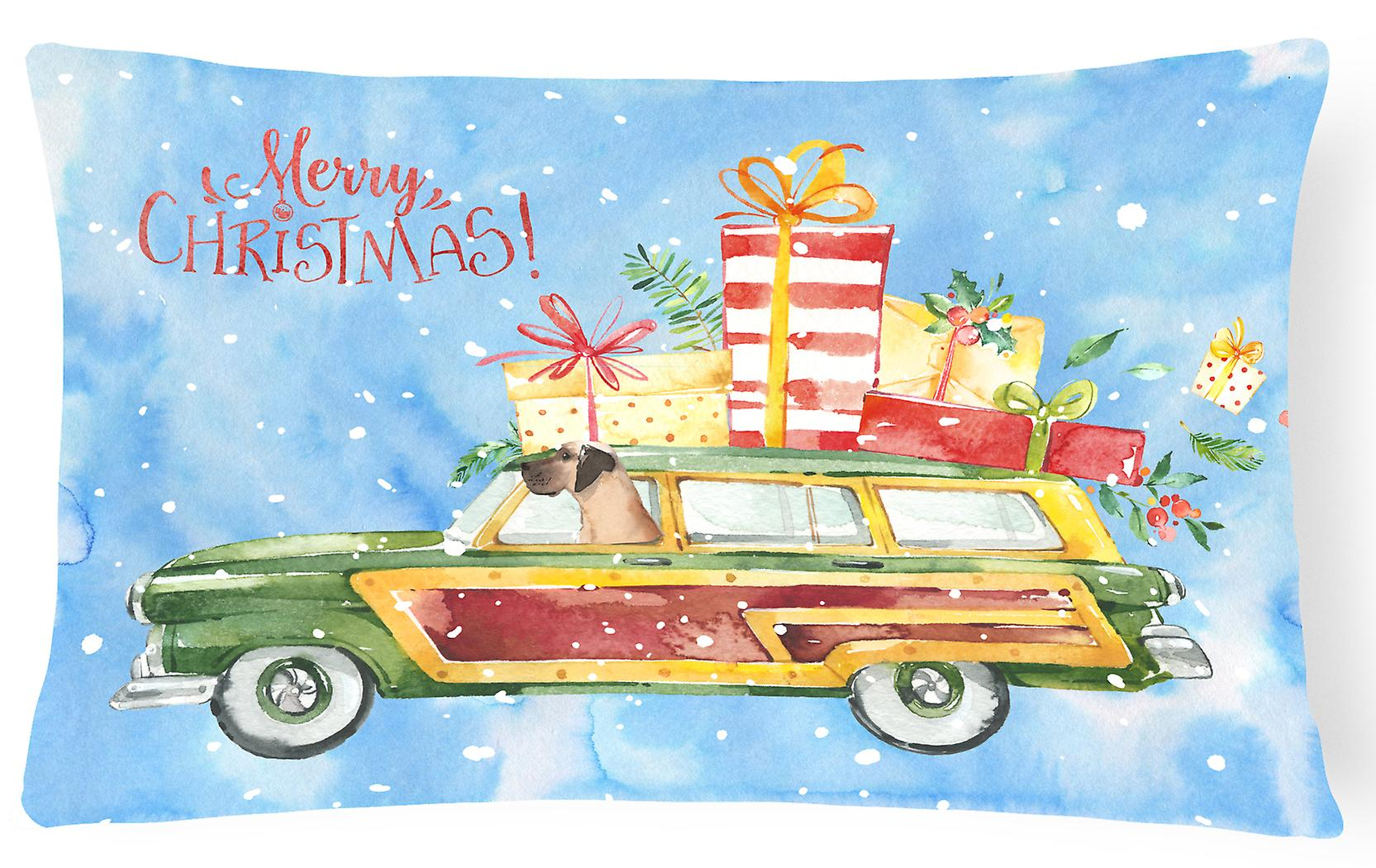 Merry Christmas Canvas Decorative Pillow Dane Fabric Great sCthdQr
