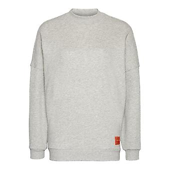Calvin Klein Ladies Monogram Sweatshirt - Grey