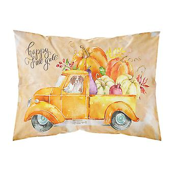 Fall Harvest Brittany Spaniel Fabric Standard Pillowcase