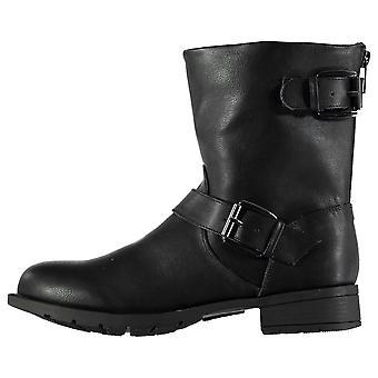 Miso barna jenter Bella Biker Junior støvler Flat ankel spenne festing Zip stropp