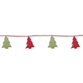 Sasse & Belle Fabric Christmas Tree Bunting Decoration