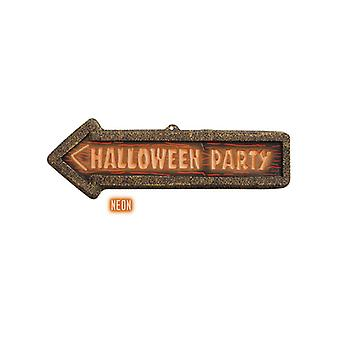3D Neon Halloween Party Sign