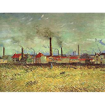 Factories at Asnieres Seen from the Quai de Clichy, Vincent Van Gogh