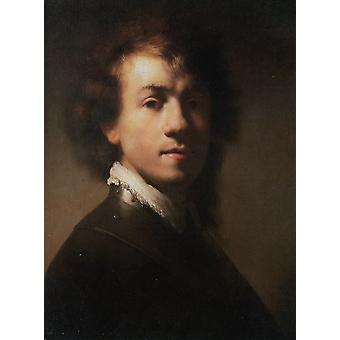 Self-portrait, Rembrandt Harmenszoon van Rijn, 37.9 x 28.9 cm
