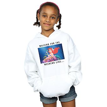 Disney Princess Girls Ariel Waiting For The Weekend Hoodie