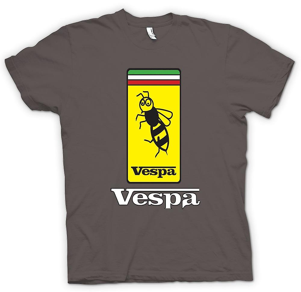 Heren T-shirt-Vespa Scooter Badge - Bee - Mod