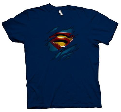 Herren T-Shirt - Superman unter Hemd Effect - Action - Superhero
