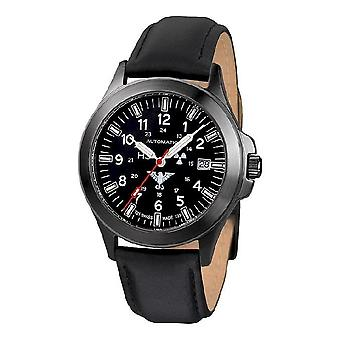 KHS watches mens watch black platoon titanium automatic KHS. BPTA. L