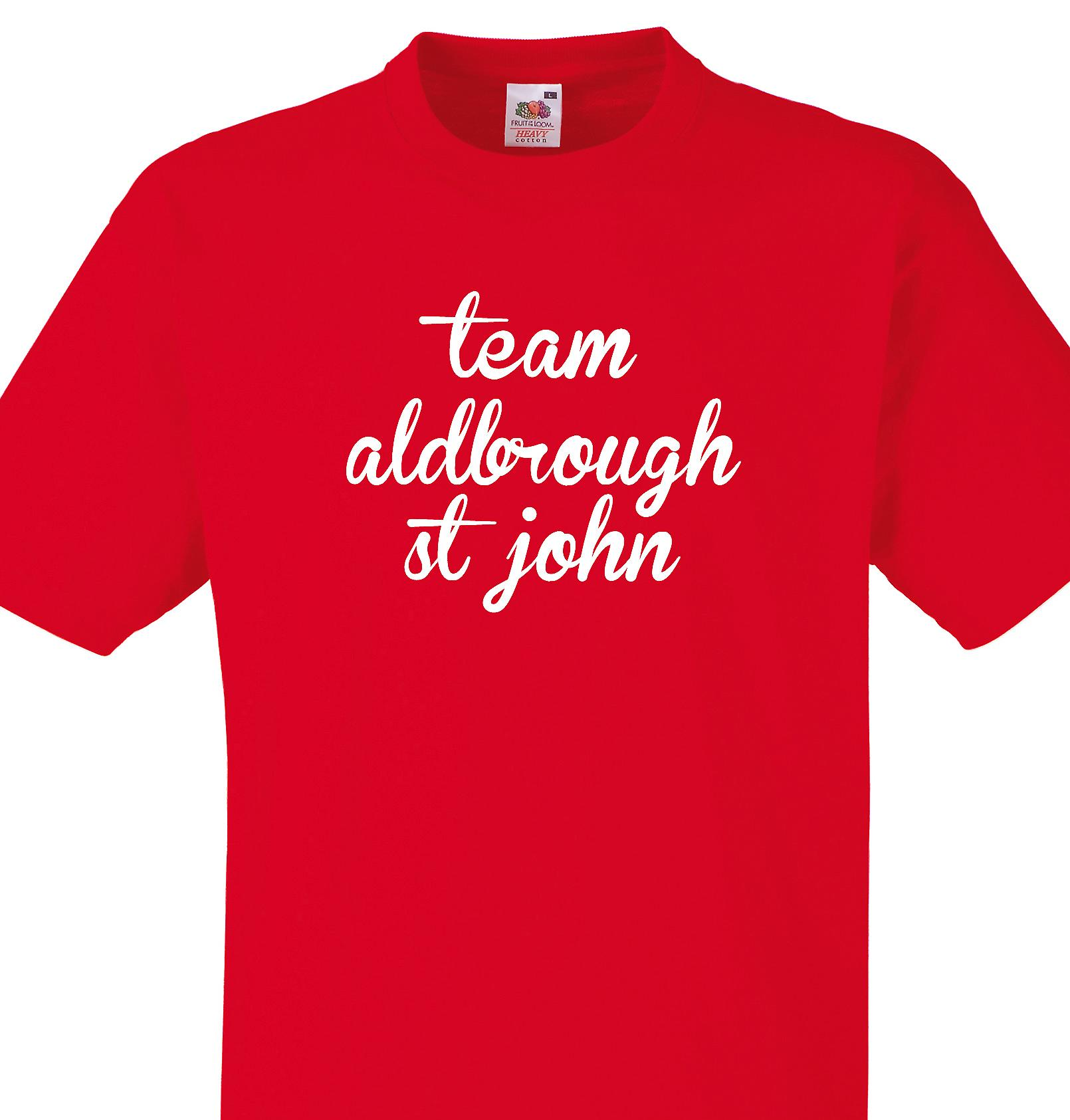 Team Aldbrough st john Red T shirt