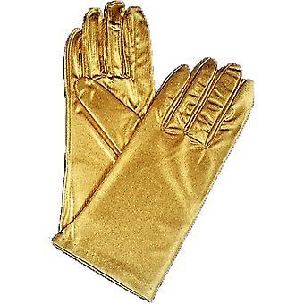 Gloves Reg Metallic Gold