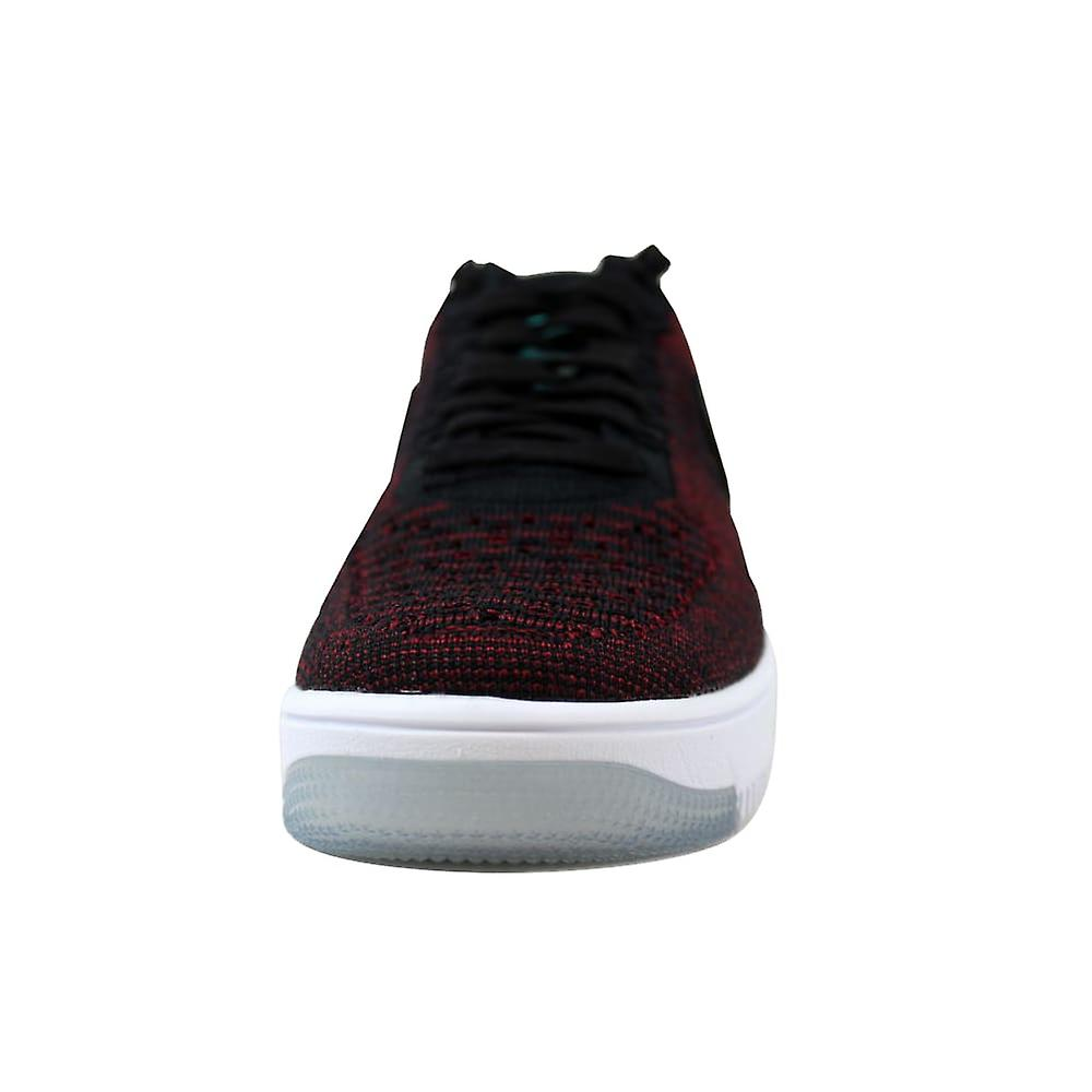 outlet store 1ab5c 83219 Nike AF1 Flyknit Low Black/Black-Team Red-Clear Jade 820256-002 Women's