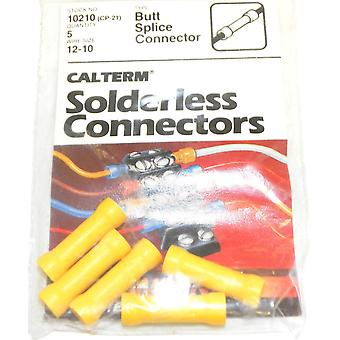 Calterm 10210 (CP-21) Wire Size 12-10 Butt Splice Connector One PKG Of 5 Pcs