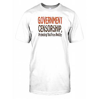 Government Censory Protecting You From Reality - Conspiracy Kids T Shirt