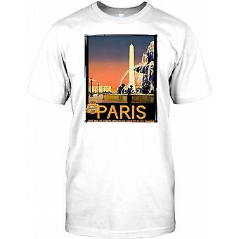 Paris - Vintage Retro-Reise Poster Kinder T Shirt