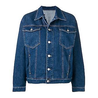Chiara Ferragni Blue Cotton Outerwear Jacket
