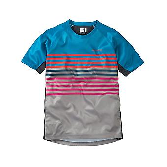 Madison China Blue-Cloud grigio 2017 Zen Kids MTB manica maglia corta