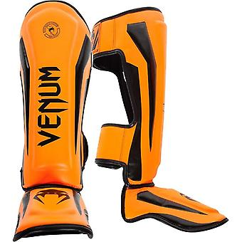 Venum Elite Standup MMA smalbensskydd med vrist - Neo Orange
