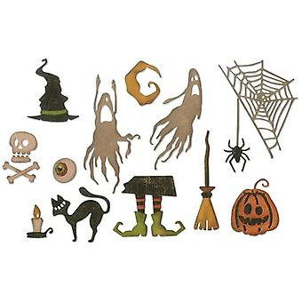 Sizzix Thinlits Die Set Frightful Things Set of 17 by Tim Holtz
