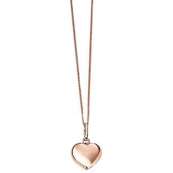 Elements Gold Heart Pendant - Rose Gold