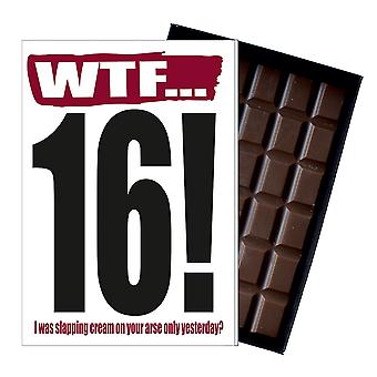 Funny 16th Birthday Gift A Rude Naughty Present for Teenager 85g Chocolate Card IYF107