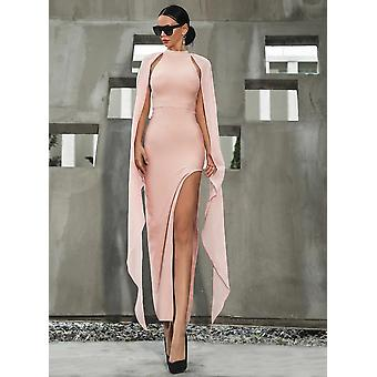 Pink high slit dress